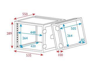 """19"""" Rack - Flightcase 6 HE, Double Door"""
