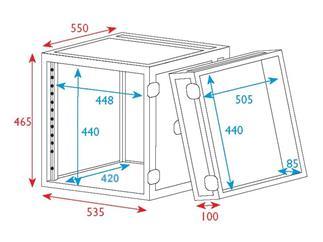 """19"""" Rack - Flightcase 10 HE, Double Door"""
