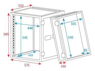 """19"""" Rack - Flightcase 12 HE, Double Door"""