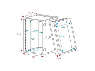 """19"""" Rack - Flightcase 16 HE, Double Door"""