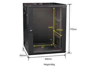 "DAP 19"" Wallmount Server Cabinet 15U"