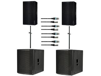 dB Technologies Opera 15 + Sub 618 Bundle inkl Stative und Kabel