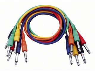 Klinken Mono Patch Kabel 30cm - gerade 6 farb. Set