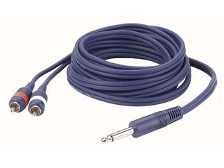 Mono Jack to Double RCA Plugs 150cm