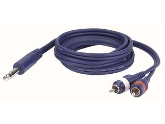 Stereo Jack to Double RCA Plugs 6m