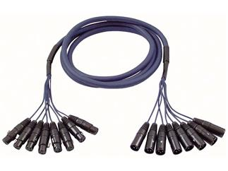 Studiosnake 8 Way XLR Male to XLR Female 3m