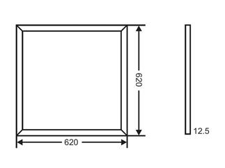 Kapego Wand- / Deckenleuchte LED Panel 3K warmweiß