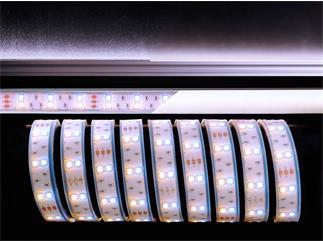 Flexibler LED Stripe, 5050, SMD, Warmweiß + Kaltweiß, 12V DC, 43,20 W