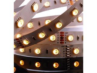 Flexibler LED Stripe 5050 SMD RGB+Warmweiß 5m 24V 75W
