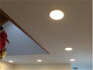 Kapego Wand-/Deckenaufbauleuchte weiß 2700K, 80 LEDs Flat 10, 24-27V DC, 350 mA, 10,00 W