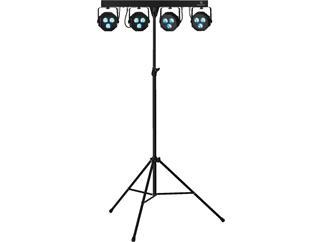 LEUCHTKRAFT PARL-45SET LED-Scheinwerfer-Set schwarz