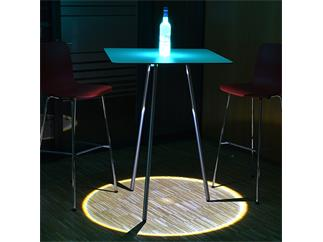 LED Table - Event Table TourSet 75 Q - 6 Tische, quadratisch, 110cm, mit LED, Case, Tasche, Fernbedienung