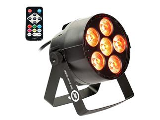 Light4me Mini LED PAR 6x4 Watt RGBW inkl. Fernbedienung