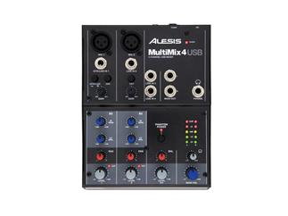 Alesis MultiMix 4 USB, 4-Kanal Mixer mit USB Audio Interface