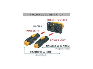 Neutrik powerCON TRUE1 Power-Out NAC3FX-W  P-out