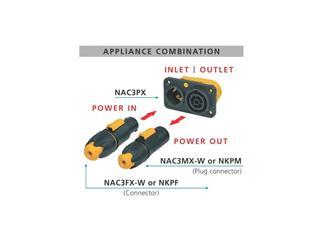 Neutrik powerCON TRUE1 Power-In NAC3MX-W P-in