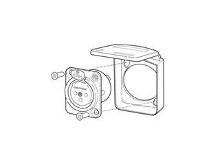 Neutrik SCDX Dichtklappe für D- Form Einbaubuchsen
