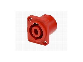 Speakon 4-pol.Einbau maennlich eckig Rot, mit Leiterplattenkontakten