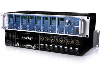 RME Micstasy, 8-Channel, 192 kHz, remote controllable Mic/Line/Instrument Preamp and AD Converter, 1(optional i64 MADI Card)