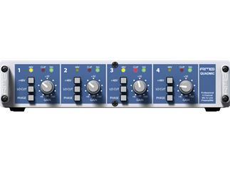"RME QuadMic II, 4-Channel, Class-A Mic/Line Preamp, 9.5"", 1 HU"