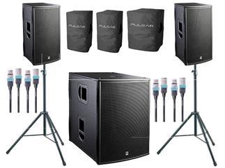 HK Audio Pulsar PL 112 FA + PL118Sub A Bundle inkl Covers