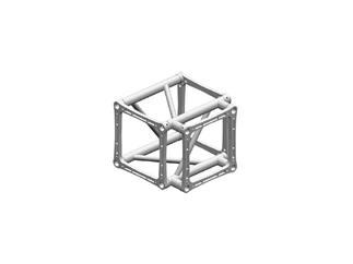 Litec/Manfrotto QD-40 3-Weg T-Stück4-Punkt Rohrabstand 40cm