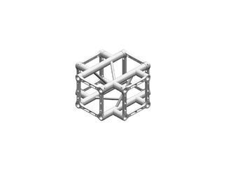 Litec QX25SA X4, 4-Weg Kreuz-Stück, 90°, 4-Punkt-Traverse, 25cm, ohne Verbinder