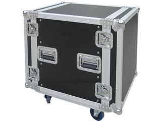 Flightcase 12 HE Doubledoor 9mm mit Rollen