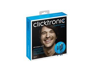Clicktronic Casual MP3 Adapterkabel (3,5mm Klinken-St./2x Cinch-St.), 1,0m