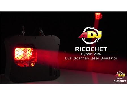 American DJ Ricochet ADJ - 20W LED-Laser-Simulator