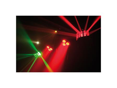 Showtec QFX 4in1 Bar, LED Spots + Derby + Laser + Fußschalter + Stativ