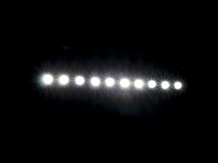 Sunstrip Active DMX Blinder, inkl. 10x 75 Watt Leuchtmittel