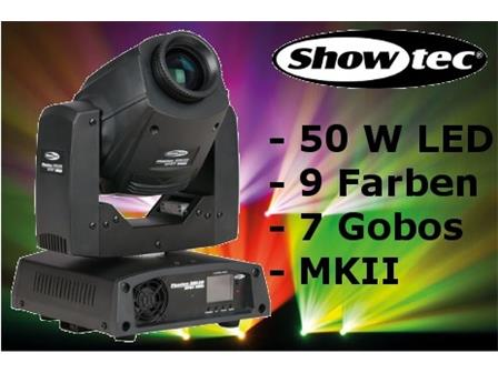 Showtec Phantom 50 LED Spot MKII 50W Moving-Head
