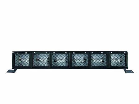 Fluter-Rampe, 6 x R-7-s, mit Filterrahmen