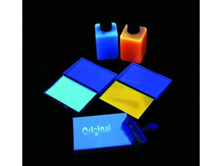 UV-aktive Stempelfarbe, transp.blau, 50ml