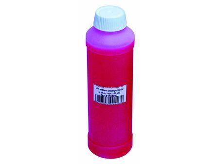 UV-aktive Stempelfarbe, transp.rot, 250ml