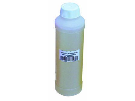 UV-aktive Stempelfarbe, transp.blau,250ml