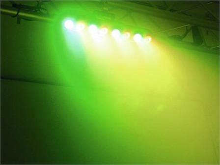 Futurelight POS-8 LED HCL Powerstick, 8x10W LED RGBAW-UV Bar