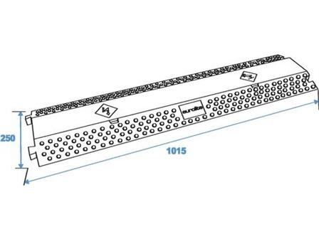 Eurolite Kabelbrücke 2 Kanäle 1000x250mm