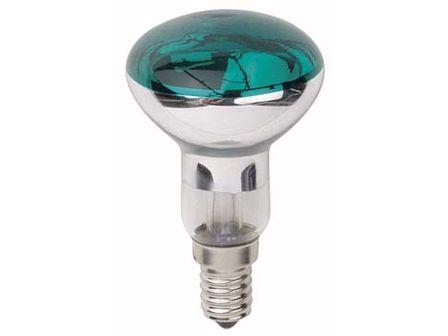 Reflektor Lampe 80mm E14 40W grün