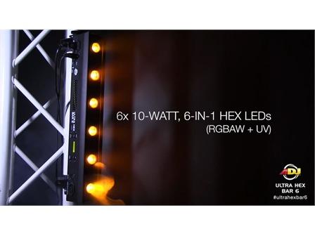 ADJ Ultra HEX Bar 6 x 10W LED Leiste RGBWA+UV