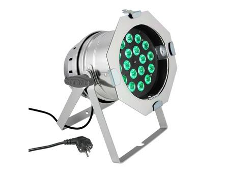 Cameo LED Par 64 18x8W RGBW LED silber