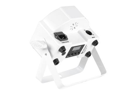 4x Cameo FLAT PAR CAN 7x3W RGB LED weiß + IR Fernbedienung