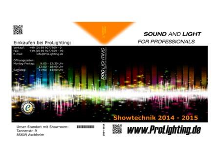 Katalog Pro Lighting Showtechnik 2014/2015