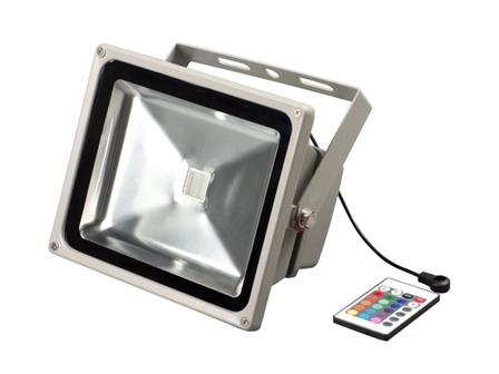 LED Outdoor Flood 60W RGB, LED Fluter inkl. Fernbedienung