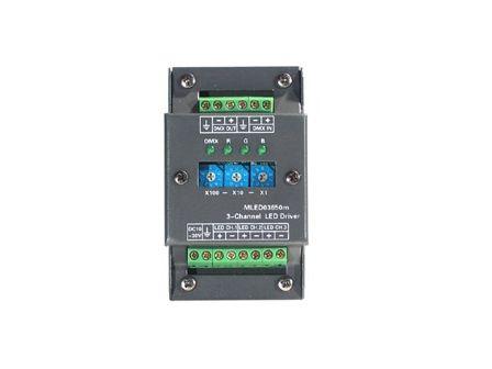 Preussen Automation MLED Driver 3 Kanal LED Dimmer, 10-30 V DC / 650mA
