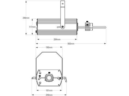 Derksen GL 80 LED Projektionssystem 80W weiß
