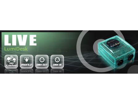 LUMIDESK LIVE DMX-Software 2 x 512 Kanäle - 1024 Kanäle