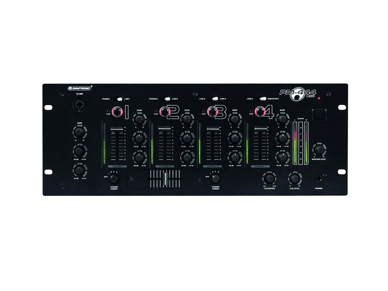 OMNITRONIC PM-444 USB 4-Kanal-DJ-Mixer, 1x USB