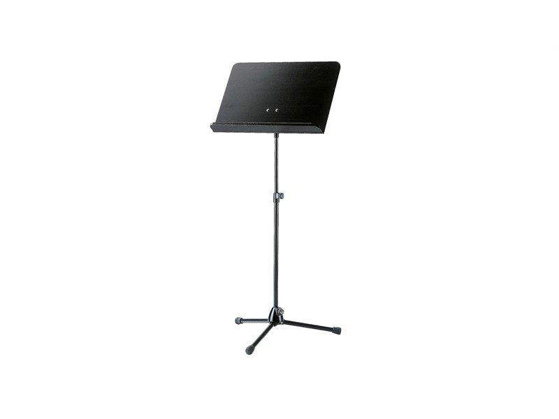 König & Meyer 118/1 Orchesternotenpult - Stativ schwarz, Holzplatte schwarz